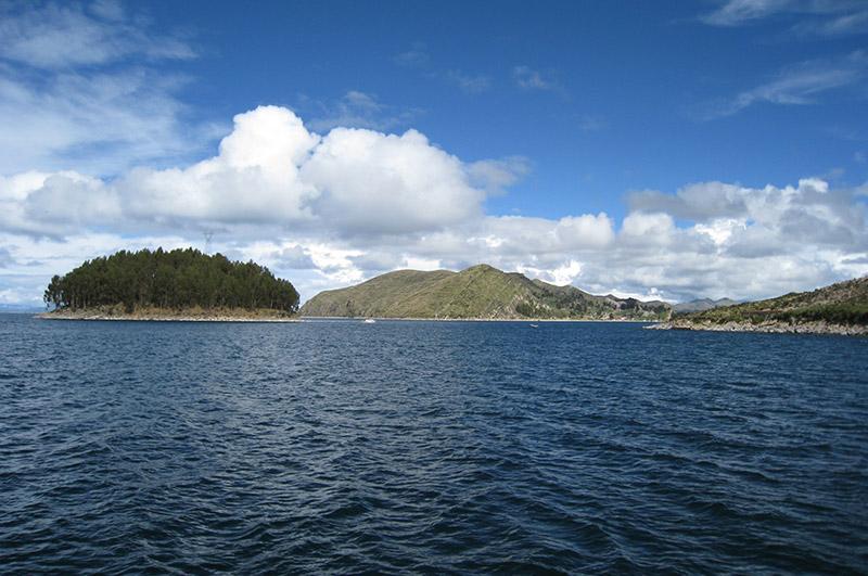 Isla del Sol desde la Lancha